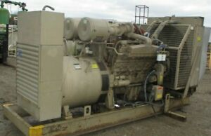 1252 Hours 500kw 2 86 Cummins V12 Generator 3ph 480 277v 760hp B217pa