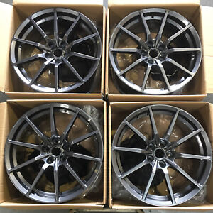 19x10 Rep Gt350 Style Fit Mustang 5x114 3 40 Gun Metal Wheels Rims Set 4