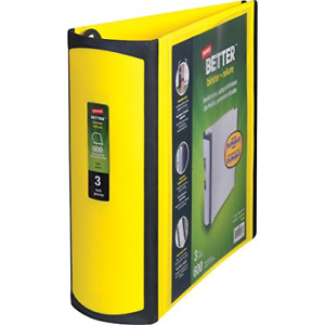 Staples Better 3 inch D 3 ring View Binder Yellow 20245 895623