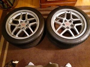 Two Corvette C5 Z06 18 Inch Speedline Aluminum Wheels W New Michelin Tires