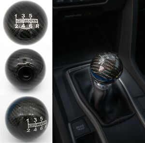 Mugen Black Carbon Fiber Shift Knob 6 Speed For Honda Acura W M10x1 5 Adapter