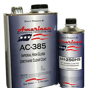 Automotive 2k Urethane Clear Coat Gallon Kit With Fast Activator