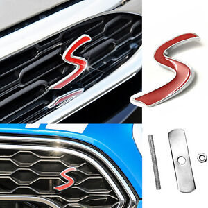 Red S Logo Emblem Rear Badge Fit For Porsche Cayman 911 Carrera Boxster Macan