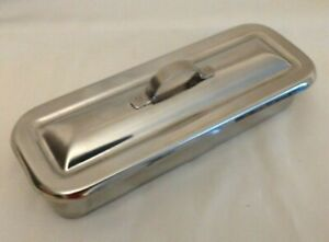Stainless Steel Surgical Lab Medical Instrument Tray W Lid Dental Tattoo Box