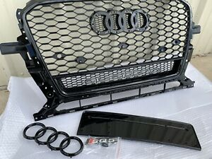 Rsq5 Style Honeycomb Front Grill Upper Grille For Audi Q5 sq5 W quattro 2013 17