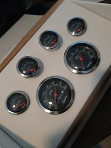 Dolphin Gauges 6 Gps Street Rod Gauge Set Street Rod Hot Rod Universal New