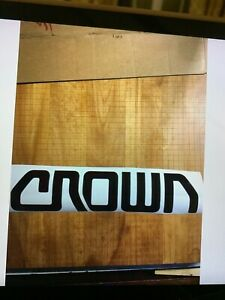 1 Crown Forklift Decal Black Vinyl Decal 11 X 2
