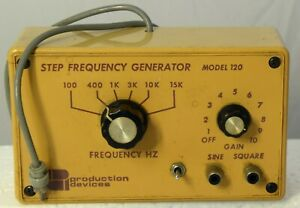 Step Frequency Generator By Production Devices Model 120 Excellent Cond