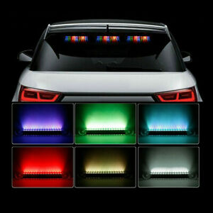 Rgb Led Solar Remote Alarm Warning Strobe Flash Light Anti Theft Security Car