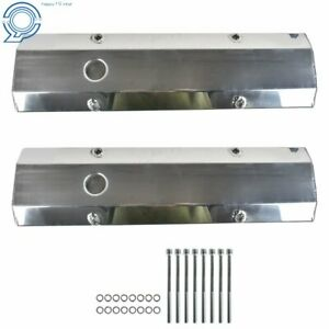 For Chevy Fabricated Aluminum Tall Valve Covers 1 4 Rail Sbc 350 383 400