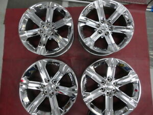 2015 2019 Cadillac Chevrolet Gmc Factory Gm 22 Chrome Wheels Caps Used 5667