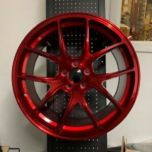 4 New Set 19 Vortex Gtr Style Candy Red Concave Wheels Rims 5x114 3