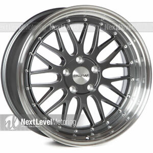 1 Circuit Performance Cp30 18x9 5 114 3 35 Gun Metal Wheel Lm Style Mesh