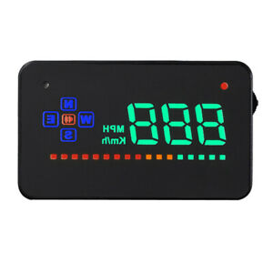 New Digital Universal Car Hud Auto Over Speed Reminder Mph Rpm For Vehicles