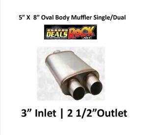 Performance Exhaust Stainless Muffler 3 In 2 1 2 Out 5 X 8 Oval Body S D