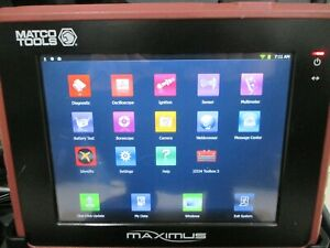 Matco Maximus Diagnostic Scanner Domestic Asian European Bluetooth