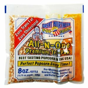 Case Of 40 Popcorn 8 Ounce Portion Packs Home Theater Quick Easy Serving Tasty