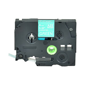 1pk White On Green Tape Label Compatible For Brother P touch Tz 725 Tze 725