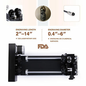 4 wheel Rotary Axis Rotation Device For 50w 60w 80w 100w 130w Co2 Laser Engraver