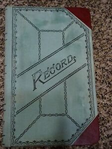 Boorum Pease Account Records Book Green red Canvas Cover 9 1 2 X 6