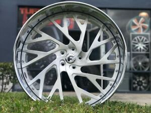 Forgiato New 2021 Model 26 Custom Staggered 3 Piece Chrome Wheels Only One Out