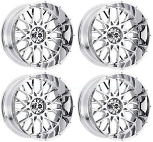 20x9 Vision 412 Rocker 6x5 5 6x139 7 10 Chrome Wheels Rims Set 4