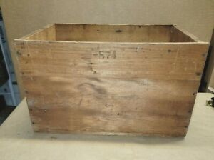 Old Vintage Antique Nero Wooden Crate Box Very Nice