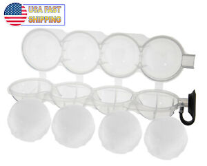 Round Mold Ice Cube Ball Makers Refreshing Ice Sphere Circular 4 Ice Ball Tray