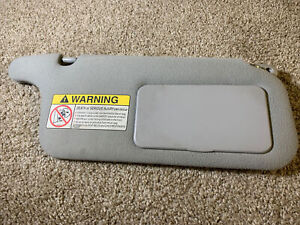 96 00 Honda Civic Right Passenger Sun Visor Shade Light Gray