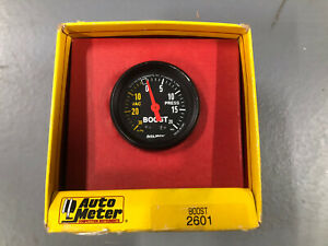 Autometer 2601 Mechanical Boost Turbo Boost Vacuum Gauge Pre Owned