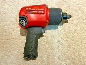 Earthquake Industrial Pneumatic 1 2 Impact Wrench 625 Ft Lbs Torque 2 Hammers
