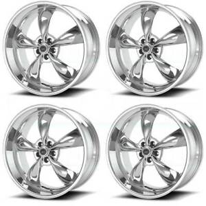 18x9 American Racing Ar605 Torq Thrust M 5x120 34 Chrome Wheels Rims Set 4