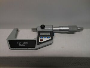 Mitutoyo Digital 1 2 Micrometer 00005 Carbide Face Works Great