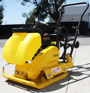 Large Plate 196cc Walk Behind Soil Dirt Vibratory Plate Compactor Rammer W tank