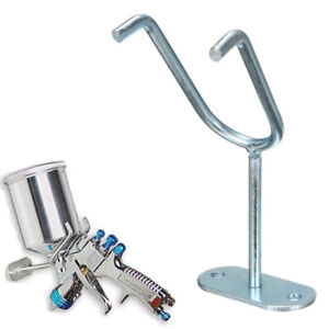 Feed Paint Spray Gun Holder Stand Hvlp Wall Bench Mount Hook Booth Cup Gravity