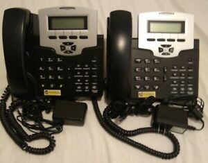 2 Business Conference Phones 5 Line Digital Directory Headset Capable Mail