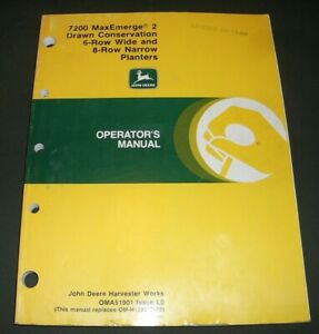 John Deere 7200 Maxemerge 6 row 8 row Planter Operation Maintenance Manual
