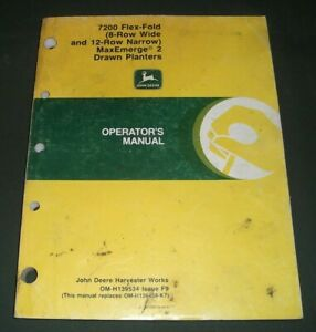 John Deere 7200 Maxmerge 8 12 Row 2 Planter Operation Maintenance Manual