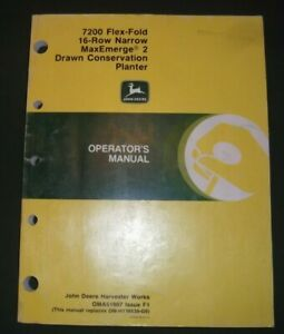 John Deere 7200 Maxemerge 16 Row 2 Drawn Planter Operation Maintenance Manual