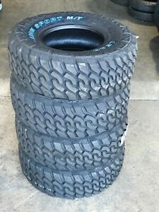 4 New Lt305 70r16 Lionsport Mt Mud Terrain Tires 10 Ply White Letter 305 70 16