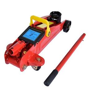 2 Ton Hydraulic Floor Jack Low Profile Car Auto Vehilce Lift Heavy Duty Steel