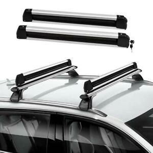 Universal Roof Mount Snowboard Car Rack Fits 4 Snowboards Ski Roof Carrier Us