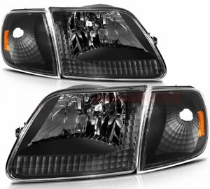 For 97 03 Ford F 150 97 02 Ford Expedition Headlights Assembly Front Replacement