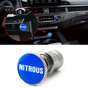 Blue nitrous Push Button Car Cigarette Lighter Replace Accessories Universal