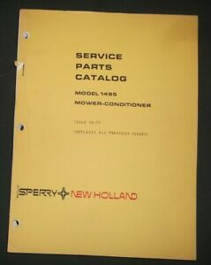 Sperry New Holland 1495 Mower Conditioner Parts Manual Book Catalog