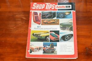 Ford Shop Tips 1970 Announcement Issue 1971 Mustang Bronco Truck Thunderbird
