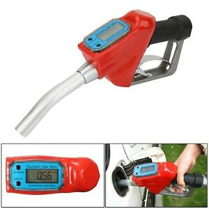 1 In Ac 15a Electronic Fuel Dispensing Meter Nozzle Oil Delivery Gun W Battery