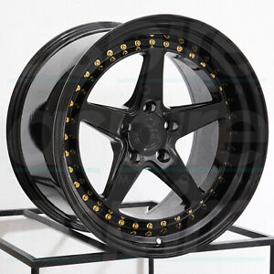 19x9 5 19x11 Aodhan Ds05 Ds5 Custom 5x120 22 22 Black Wheels Rims Set 4 73 1