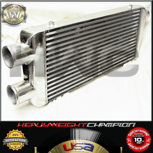 2 In 1 Twin Turbo Aluminum Intercooler For Mustang Viper Skyline Gt R Sbc Bbc