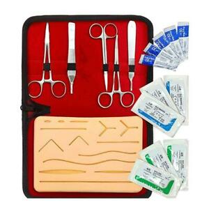 Suture Training Kit Surgical Skin Operate Practice Medical Pad Tools New